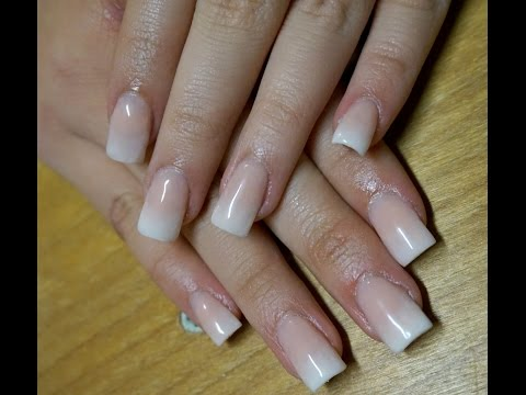 Baby Boomer Acrylic Nails at Home