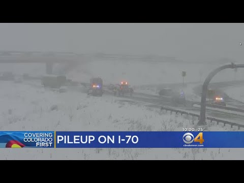 Snow Blows Into Western Metro Area, Numerous Crashes Close WB I-70