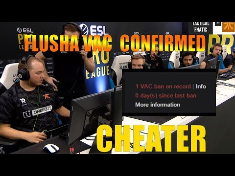 FLUSHA VAC CONFIRMED // CS GO ESL PRO LEAGUE // BEST TWITCH MOMENTS #2