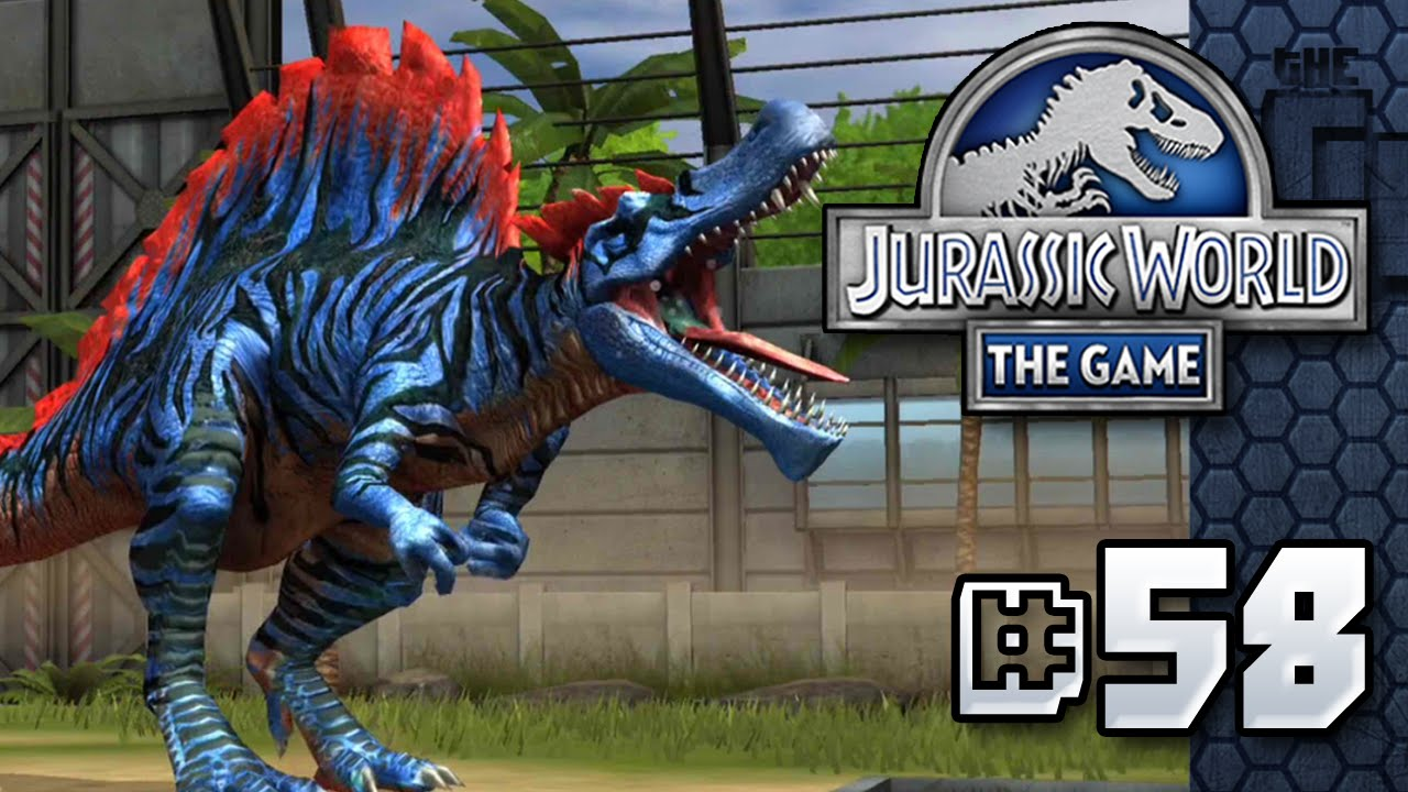jurassic world the game spinosaurus