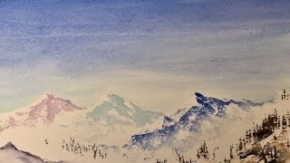 "Рисуем Горы. Очень легкий пейзаж- акварель.Easy way to paint the Mountains in watercolour(Группа ""Арт Кафе"" на Файсбуке Facebook, group "" Art Cafe"" : https://www.facebook.com/groups/artcafe7/ Группа "" Фотоальбом"" https://www.facebook..., 2017-01-10T13:45:05.000Z)"