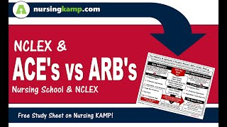 What is the difference between Ace Inhibitors ARBS LIsinopril Losartan Nursing KAMP NCLEX 2019