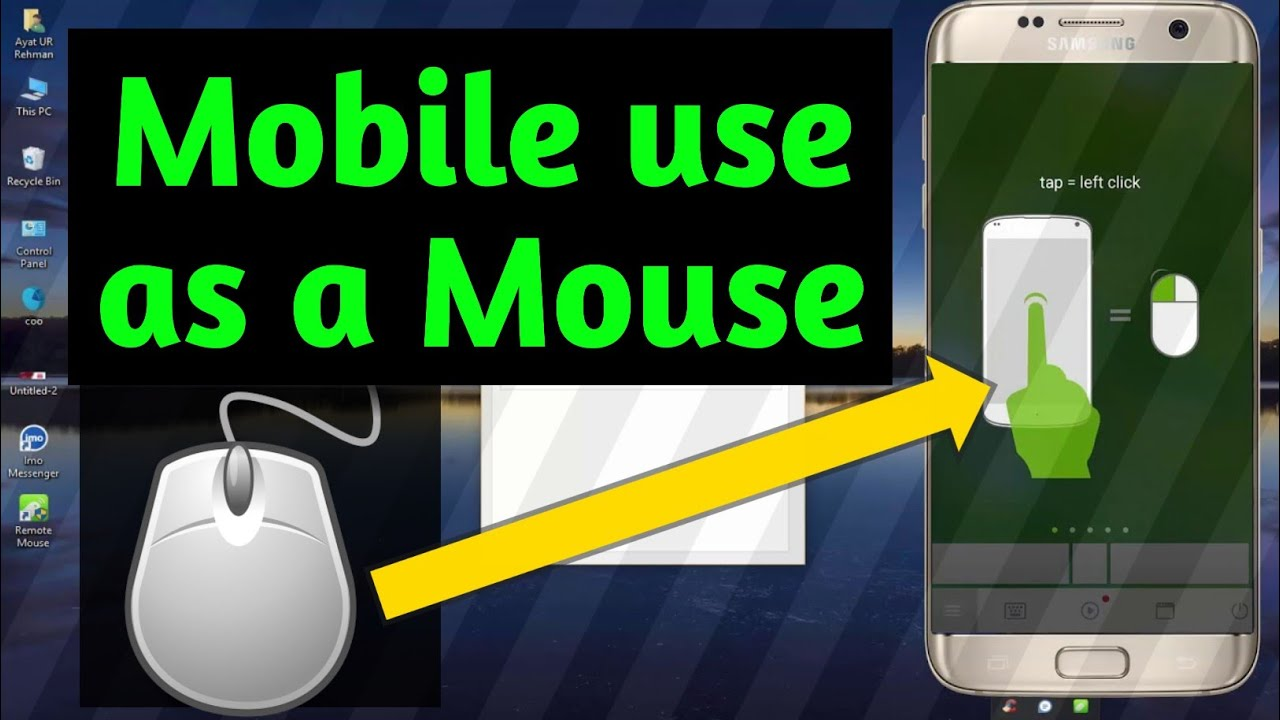 Remote Mouse App use as mouse on PC | Android Phone use wireless mouse |  error solve