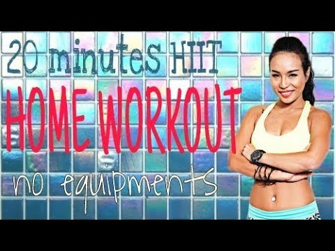 20 Minutes HIIT Home Cardio Workout Without Equipment    BE FIT BE SEXY  MICHELLE VO