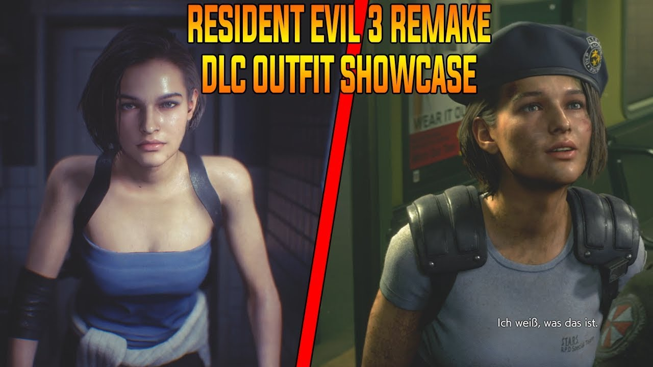 Resident Evil 3 Remake Dlc Outfits Showcase Jill Valentine