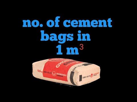No. of bags in 1 cubic meter
