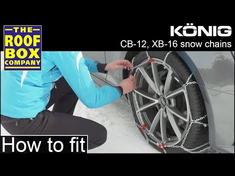 König Snow Chains CB-12 XB-16 - How to fit