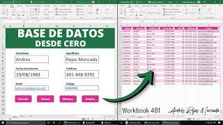 Cómo Crear una BASE DE DATOS Desde Cero en Excel