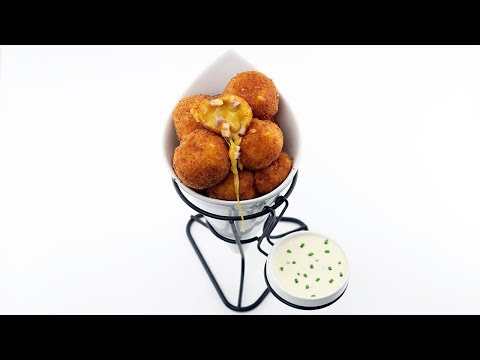 Deep Fried Ham And Cheese Balls