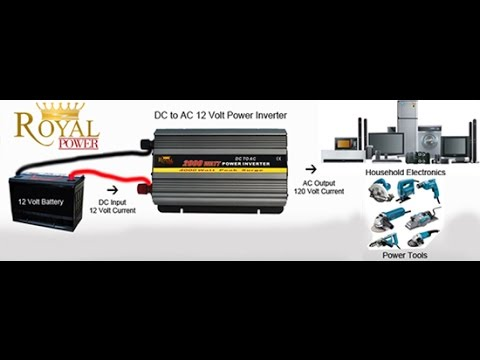 How Do Dc To Ac Power Inverters Work Youtube