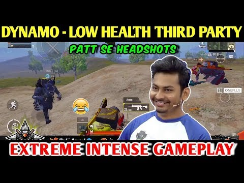 DYNAMO - Low HEALTH Third Party | PUBG MOBILE | RED ROCK