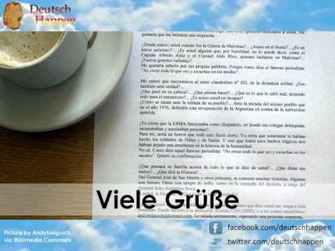How to close a letter in German - Complimentary Close - YouTube
