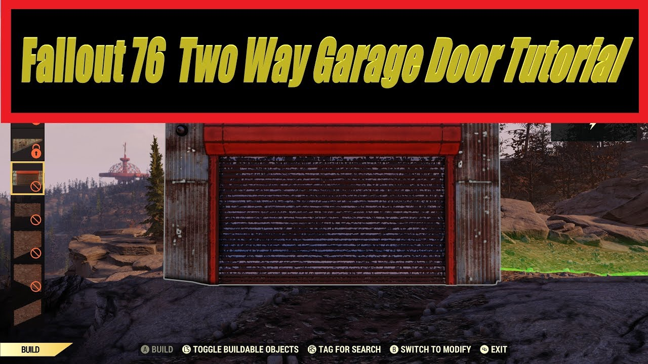 Fallout 76 Garage Door 2 Way Setup Youtube