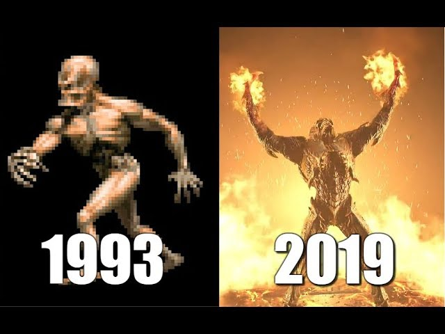 Doom 1993 - 2019: Arch-Vile (Demon) Comparison #1