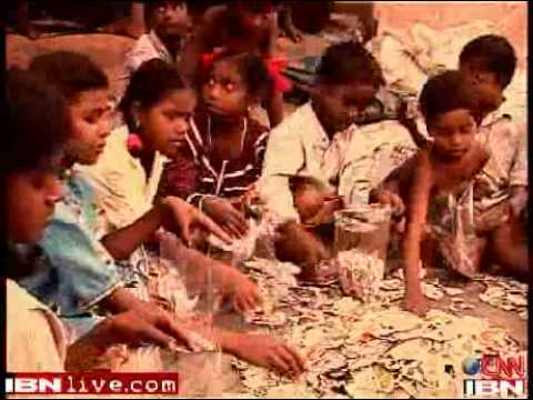 Indian Kids Play With Fire Make Crackers