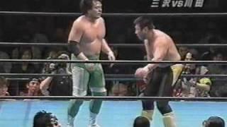 2000年チャンピオン・カーニバル1回戦 三沢vs川田.