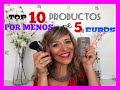 TOP DIEZ PRODUCTOS POR MENOS DE 5 EUROS | Pandoramenchu menchu
