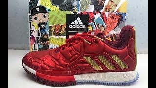 96db05a603 Marvel Ironman adidas Harden 3 Endgame Boost Sneaker Detailed Review  #Marvel ...