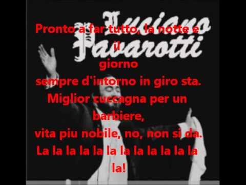 Barbiere di Siviglia with Lyrics