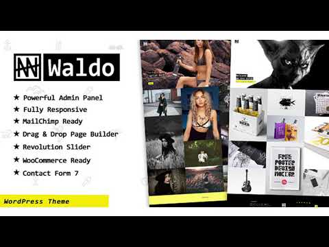 Waldo - Creative Portfolio & WooCommerce WordPress Theme | Themeforest Website Templates and Themes thumbnail