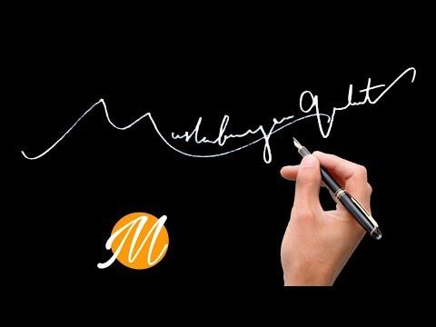 Adan Zye En Güzel Imza örnekleri M Harfi Için Denemeler Imza