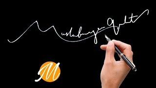 Start with M The Best Signature Examples  How to create my Autograph A to Z?