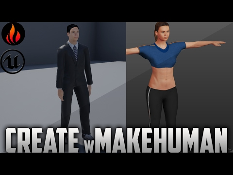 Unreal Engine 4 - Create Character with MakeHuman / Part1