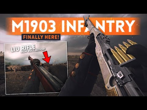M1903 INFANTRY *FINALLY* COMING To Battlefield 1! (General Liu Gets Bolt-Action Fire Mode Too!)