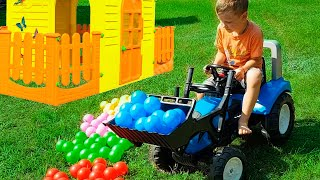 Funny baby Unboxing And Assembling The POWER WHEEL Ride A New Tractor Falk Farm1 by iFinger