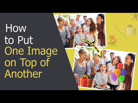 How to Put One Picture on Top of Another - Overlay Images in ONE Click