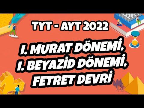 I. Murat, I. Beyazid ve Fetret Devri | TYT - AYT Tarih 2021 #hedefekoş