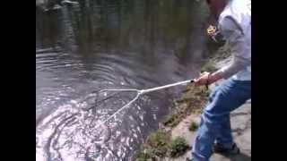 Подсак рыболовный Kosadaka LNML 10 (в действии / in action)(http://fishcomm.livejournal.com/248561.html Тестирование рыболовного подсака