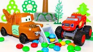Мультики про машинки Вспыш и чудо машинки Крушила украл Конфеты M&M's Мультфильмы для детей #Тачки