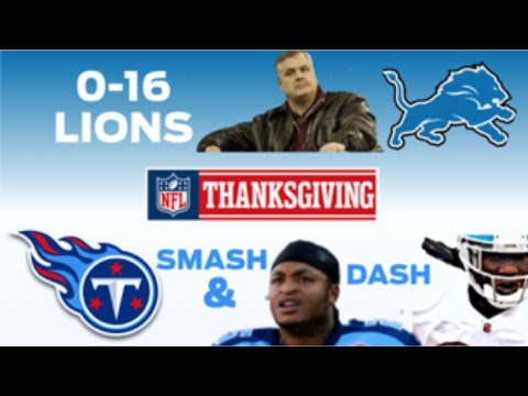 NFL Thanksgiving: 0-16 Lions RUN OVER By Smash & Dash