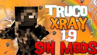 Minecraft Truco Xray Sin mod -  Minecraft 1.9