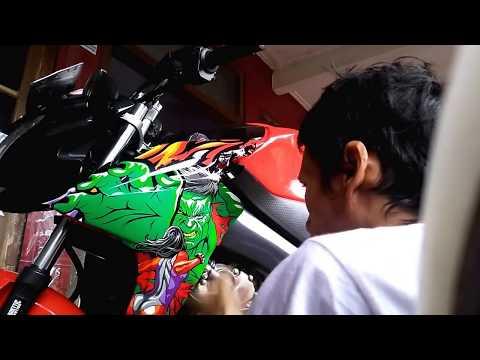 CARA MEMASANG STICKER 3D ( Yamaha new vixion)  SENDIRI DI RUMAH