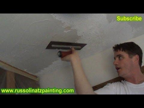 Diy Ceiling Repair Skim Coat Over A Painted Popcorn Part 2