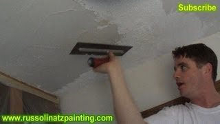 DIY Ceiling Repair - Skim Coat over a Painted Popcorn Ceiling (Part 2)