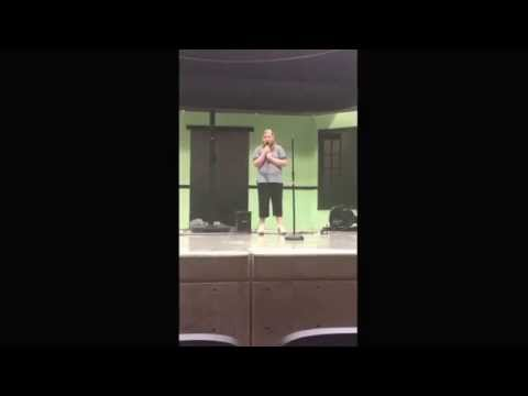 Alexis singing at the 2014 Talent Show at the Eureka Springs High School. May 9th.