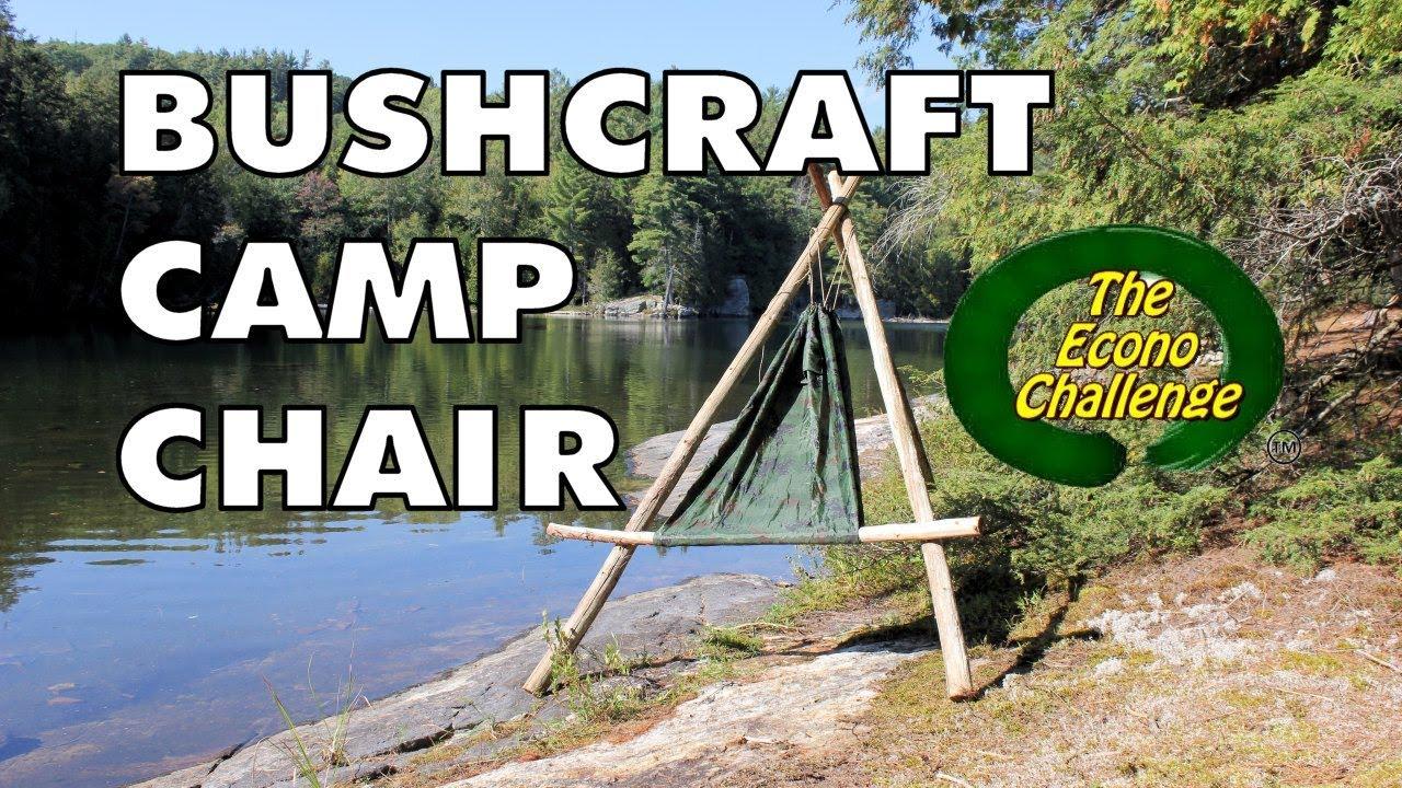 Amazing Camp / Hammock Chair   DIY Bushcraft Chair From Econo Challenge    YouTube