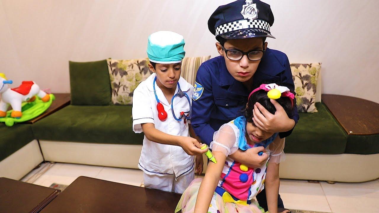الشرطي ماسك لانا والدكتور يبي يعطيها ابرة Youtube