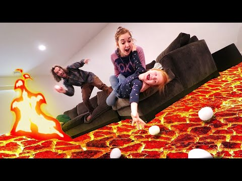 LAVA BALL  (new Game)  Don't Let The Snowball Touch The Floor!! Adley Plays A Fun Mystery Challenge!
