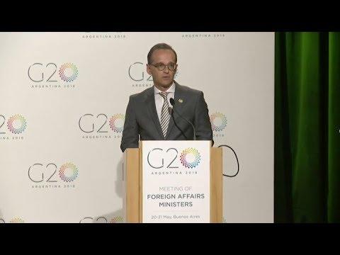 Para Alemania el G20 debe ser quien garantice un comercio equitativo y justo