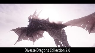 MORE EPIC DRAGONS! Skyrim Mods - Diverse Dragons Collection 2.0. [60FPS|1080p]