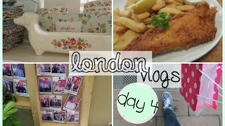 l o n d o n vlogs day 4 youtube space shopping musei e fish and chips