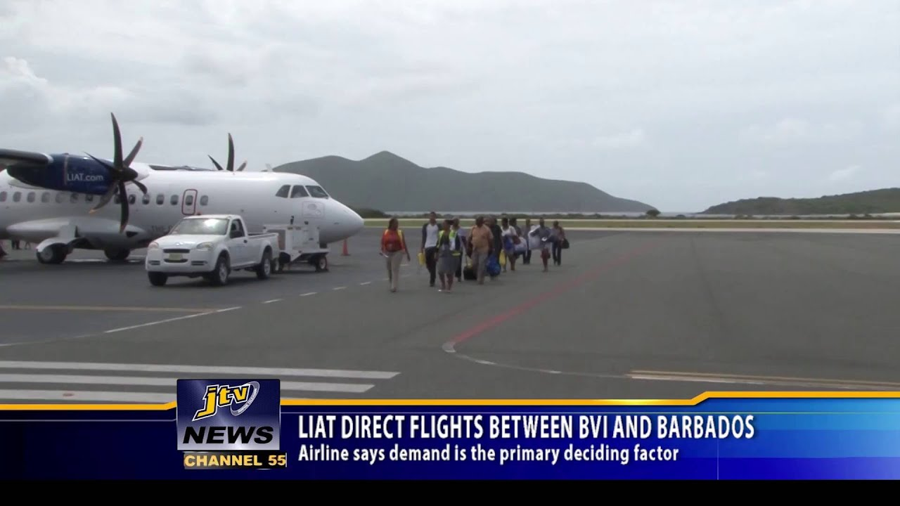 from direct barbados bwi to flights
