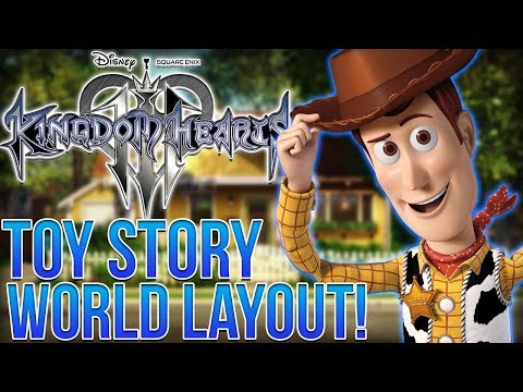 Kingdom Hearts 3 News - Toy Story World Layout - Areas and Locations