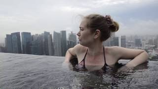 Обзор номера в отеле Marina Bay (Сингапур) и бассейна на крыше(, 2016-11-08T22:53:21.000Z)