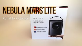 Nebular Mars Lite Projector, Portable Battery Powered Theatre in a Box   Unboxing