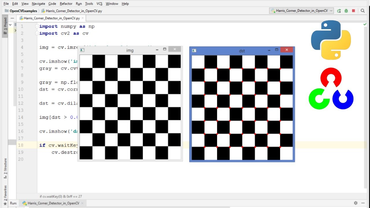 OpenCV Python Tutorial For Beginners 37 - Detect Corners with Harris Corner  Detector in OpenCV